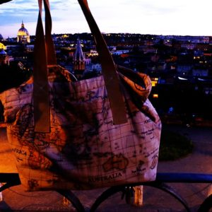otziotzi-sac cabas made in France à rome vue panoramique de nuit