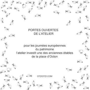 Journées Européennes du Patrimoine : Portes ouvertes de l'atelier
