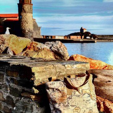 Les aventures du sac cabas à Collioure