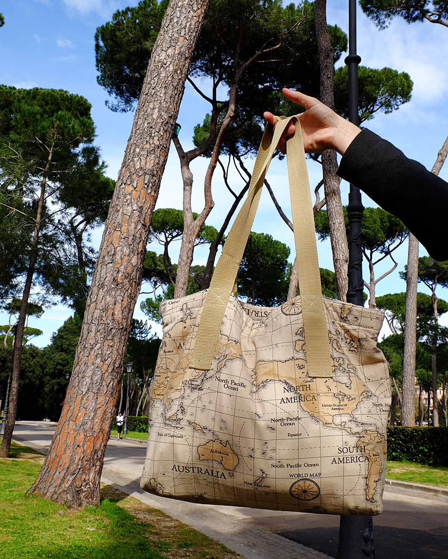 otziotzi-artisanat-textile-sac-cabas-made in France parc villa borghèse