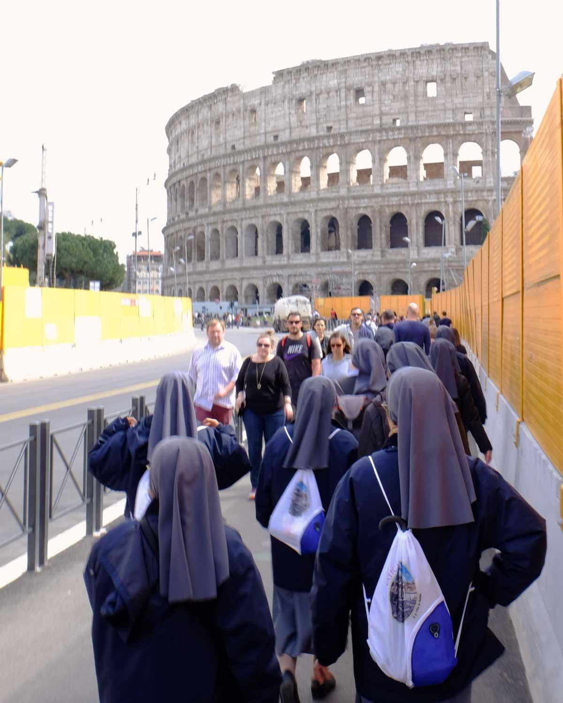 rome collisée religieuses